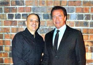 Bert Martinez and Arnold Schwarzenegger
