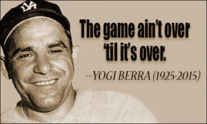 Yogi Berra, American Hero, Hall of Fame Catcher, Dies at 90