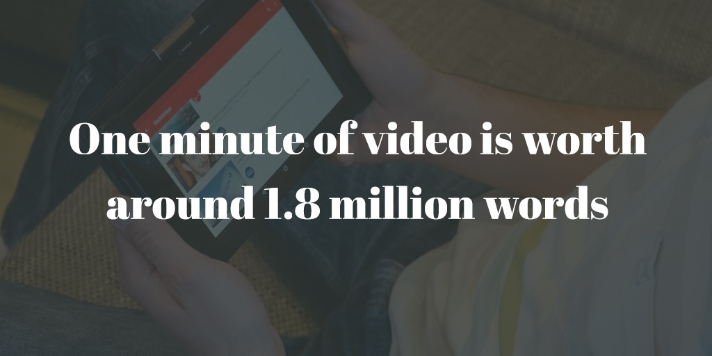 One minute of video is worth around 1.8 million words