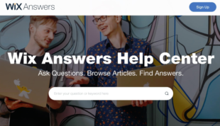 Wix Answers, is a help desk software