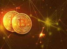 Two bitcoins facing front