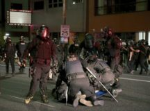 Portland Protesters Set Fire to Government Building