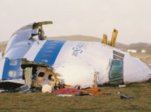 Some of the wreckage of Pan Am Flight 103 after it crashed onto the town of Lockerbie in Scotland, on December 21st, 1988.