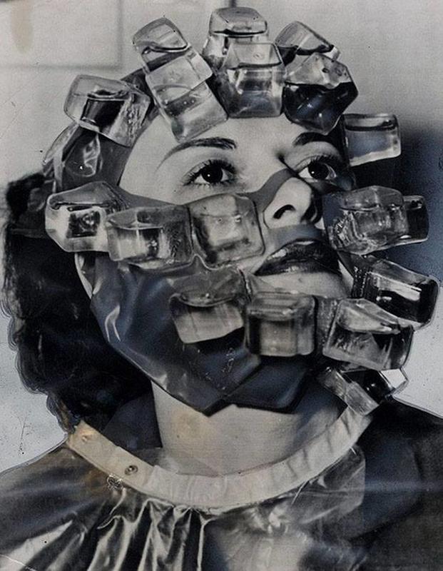 """An """"icebox"""" facial beauty treatment, 1966"""