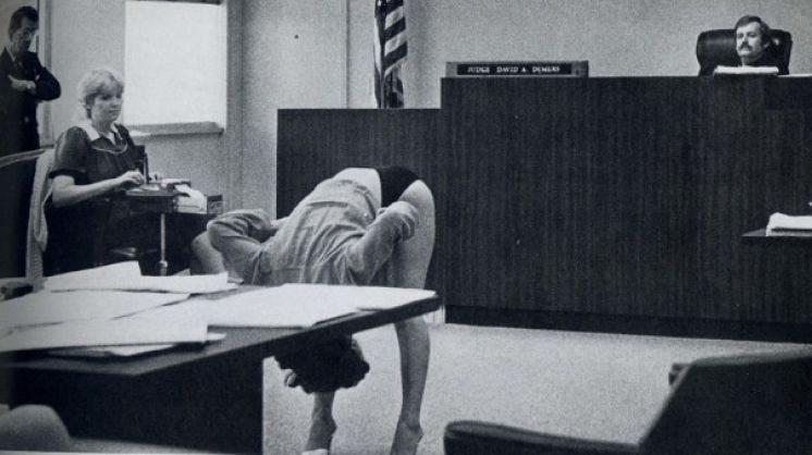 After undercover cops arrested her, this exotic dancer showed off in court, Florida 1983