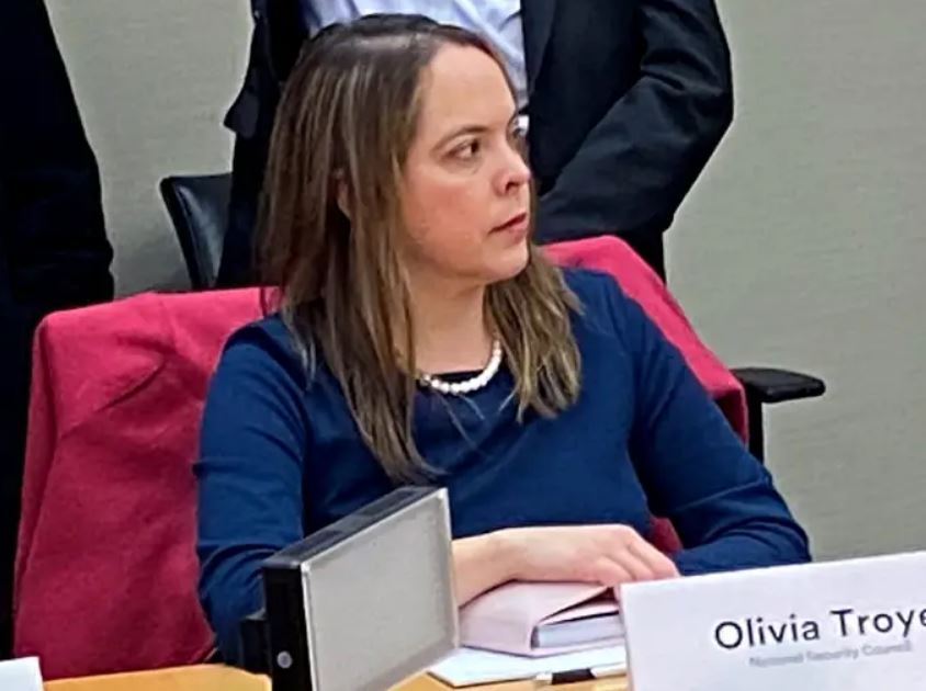 Olivia Troye, former aide to Vice President Mike Pence. Reuters