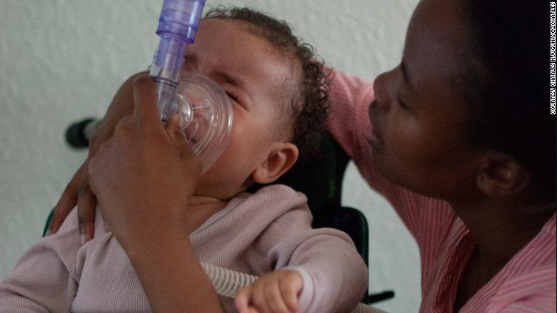 To calm Ayah down during breathing treatments, her mother softly sings You Are My Sunshine